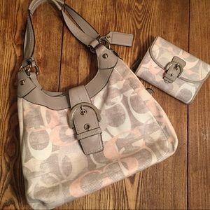 COACH Soho Optic Hobo Shoulder Bag & Wallet Set